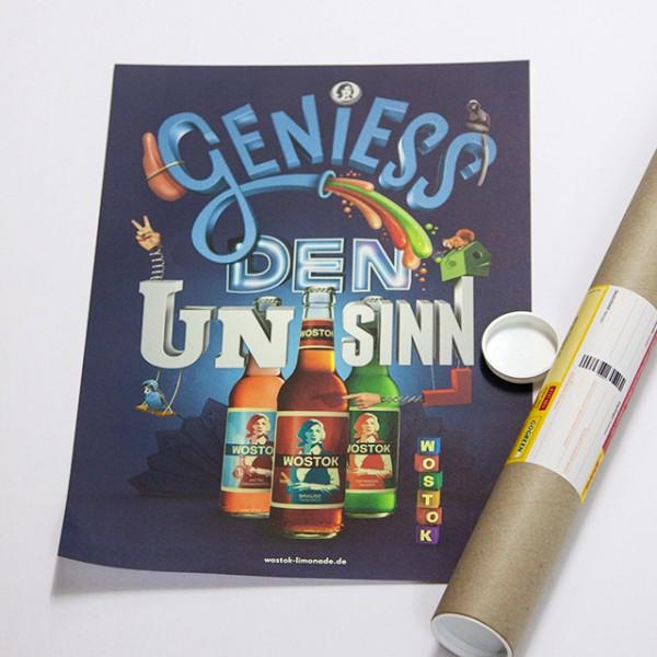 """Plakat """"Geniess den Unsinn"""" - DIN A3"""